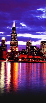 Chicago Willis (Sears) Tower at night