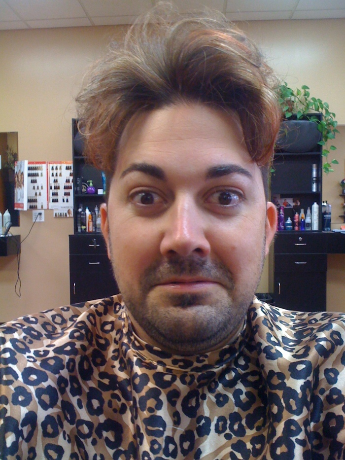 """Shaun Hays gets """"Punked"""" by his stylist."""