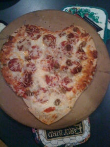 Terrible Heart Shaped Pizza